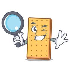 Detective graham cookies character cartoon vector