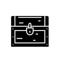 dower chest icon black sign vector image