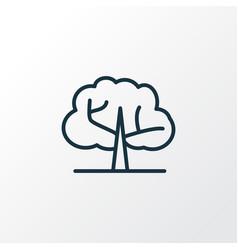 elm tree icon line symbol premium quality vector image