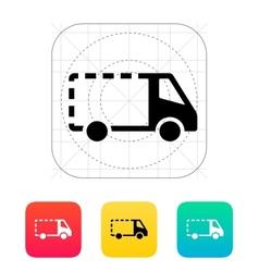 Empty delivery minibus icon vector image
