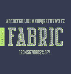 Fabric condensed retro typeface uppercase vector
