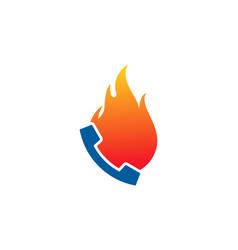 fire call logo icon design vector image