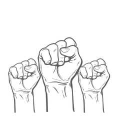 Fist as a symbol of good luck strength and vector