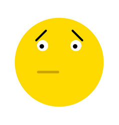 Frustrated smiley face icon vector