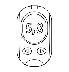glucose meter icon outline style vector image