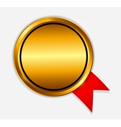 gold sign label template vector image