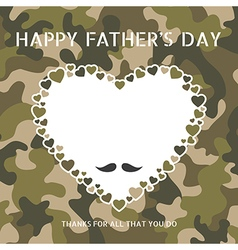 Happy fathers day on camouflage pattern vector