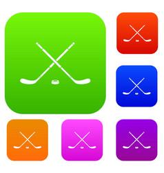 Hockey set collection vector