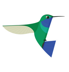 Humming bird icon geometric flat isolated object vector