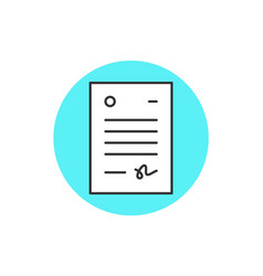 icon of letter vector image