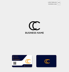 Initial cc creative logo template and business vector
