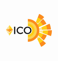 Initial coin offering abbreviated ico vector