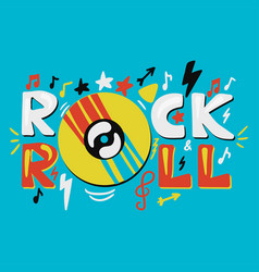 inspirational and motivational concept rock n roll vector image