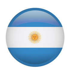 isolated argentina flag vector image
