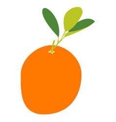 Isolated orange fruit vector