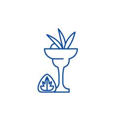 liquor line icon concept liquor flat vector image