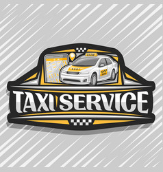 logo for taxi service vector image