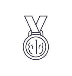 medal first place line icon concept medal first vector image