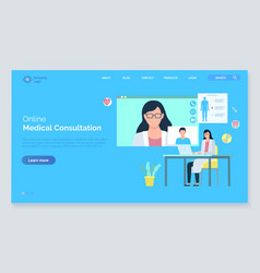 medical web care assistance consultation vector image