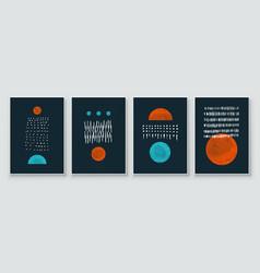 mid century modern design a trendy set vector image