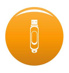 Mini usb icon orange vector