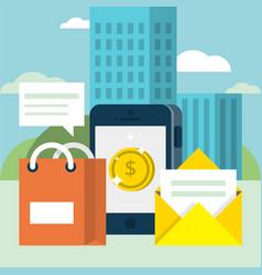 mobile marketing background vector image