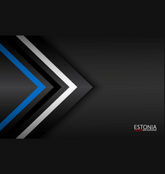 Modern colorful arrows with estonian colors and vector