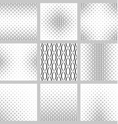 Monochrome curved shape pattern background set vector