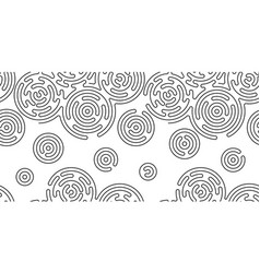 monochrome doodle abstract seamless background vector image