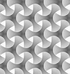 Monochrome gradually striped tetrapods vector