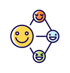 Networking talent rgb color icon vector