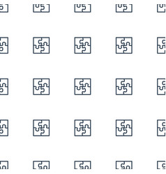 Puzzle icon pattern seamless white background vector