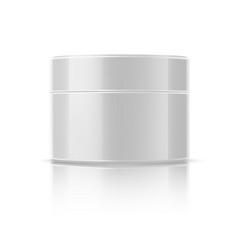 realistic cosmetics jar white mockup bottle vector image