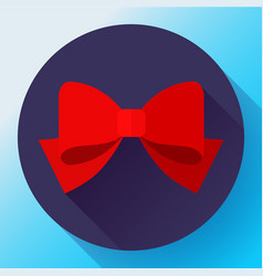 red bow icon flat bow vector image