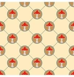 Red mushroom pattern vector