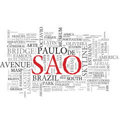 Sao word cloud concept vector