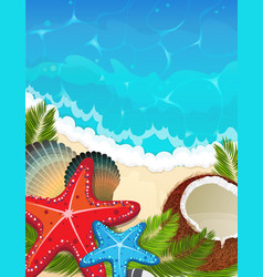 sea tropical background vector image