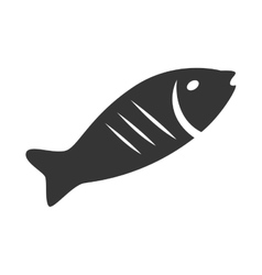 Seafood animal isolated flat icon vector image