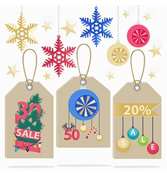 Set of colorful New Year Sale labels vector image