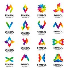 Set of logos abstract modules vector