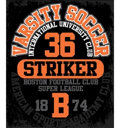 Sport college training typography t-shirt graphics vector image