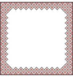 Square Pattern for embroidery vector image