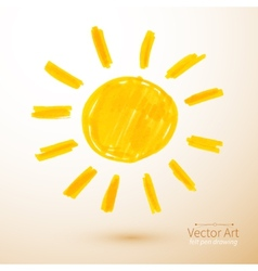 Sun Felt pen drawing vector image