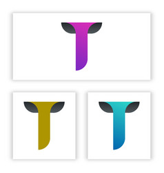 t letter logo template for your business and vector image