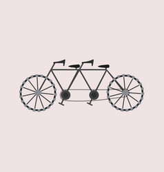 Tandem bicycle icon vector