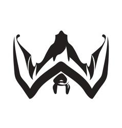 The bat vector image