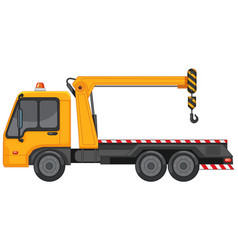 Tow truck in yellow color vector