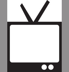tv icon in trendy flat style isolated vector image