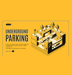 underground parking isometric website vector image