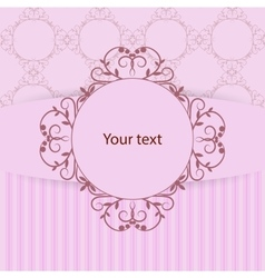 Vintage frame with place for your text on pink vector image